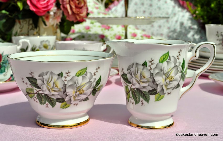 Royal Stafford Camellia milk jug and sugar bowl