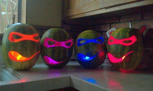 TMNT Watermelon Carvings