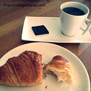 French Village Diaries Food Boulangerie croissants coffee France