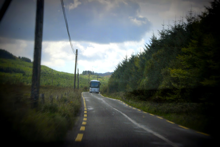 Watch for tour buses and scoot over! From 5 Tips on Driving in Ireland