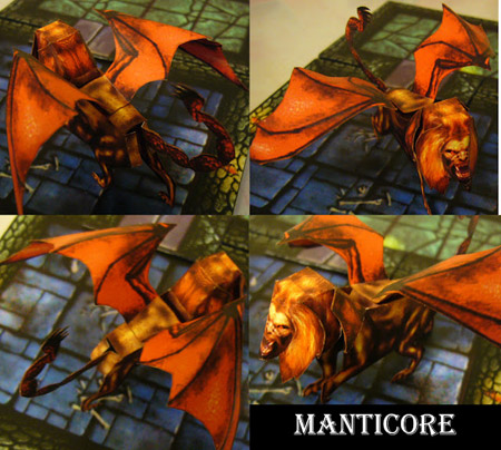 Fantasy RPG Dark Monsters Papercraft