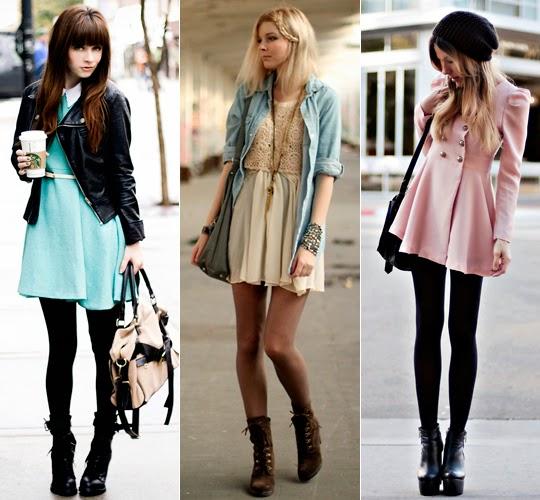 qual casaco usar com vestido no inverno