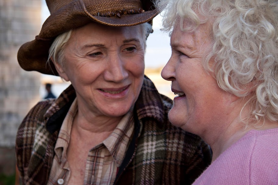 Olympia Dukakis and Brenda Fricker in Cloudburst