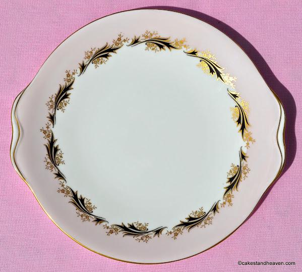 Royal Albert vintage pale pink cake plate