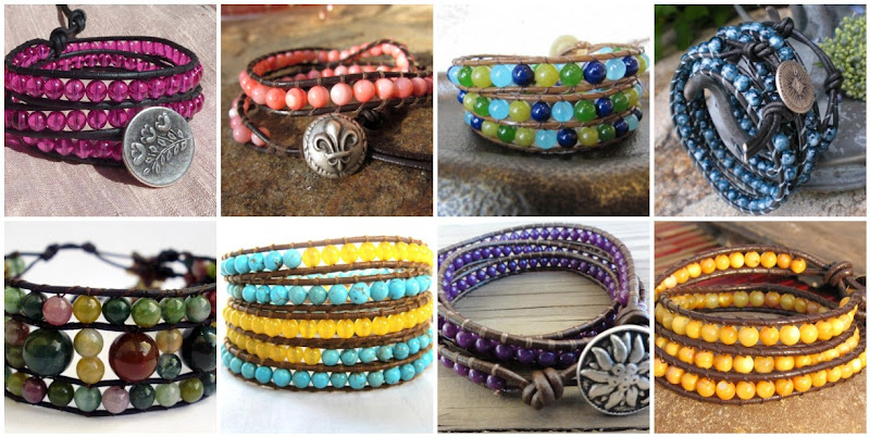 Handmade Leather Wrap Bracelets