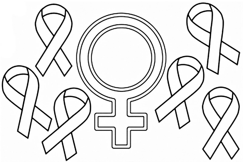 Images of Breast cancer coloring pages