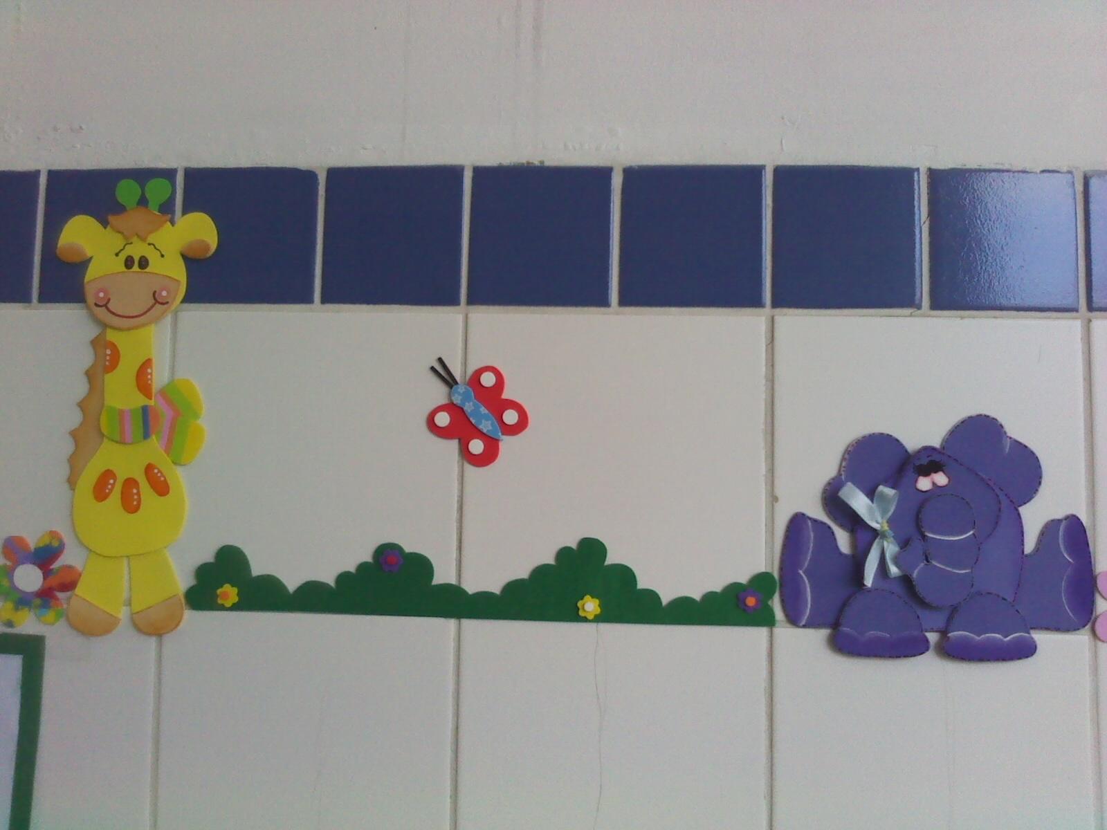 Decoração Com Eva ~ Decoraç u00e3o em EVA Girafinha e Elefante