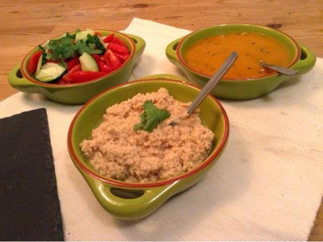 Homemade Hummus, Fresh Salsa & Amba Sauce