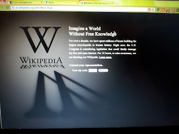 WIkipedia's blacked out - Good bye free knowledge