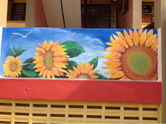 Pelukis mural shah alam bunga bunga matahari for Mural sekolah rendah