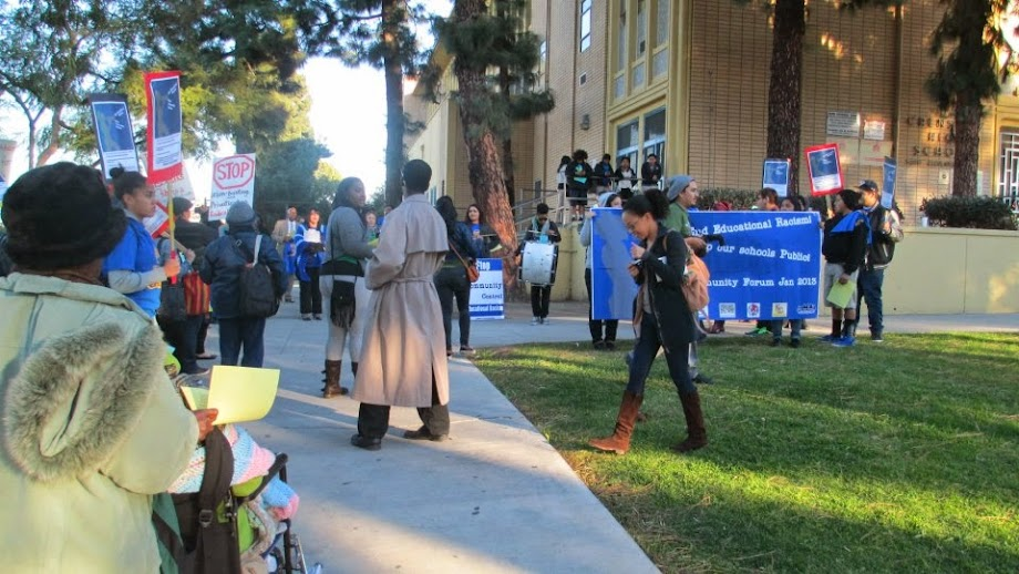 Photo credit: Crenshaw Cougars Fighting Reconstitution. Stop Deasy from destroying any more school communities