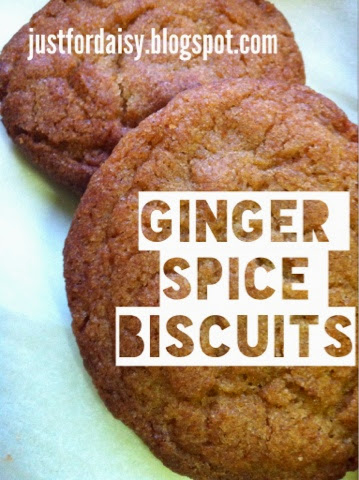 Just For Daisy :: Ginger Spice Biscuits Recipe