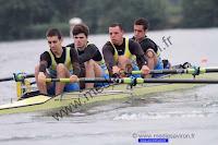 Championnat de France 2013 seniors 4 barré : Thibaut MAMES, Mickael BARBOTIN, Valentin FAURE, Maxime DJIAN, barreur : Estelle FINOT
