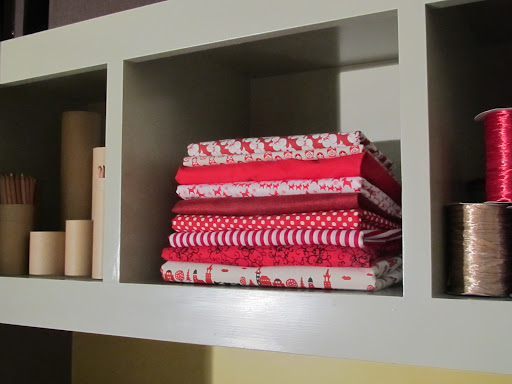 Even our fabric stash is festive.
