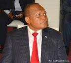 Rémy Musungayi, ministre de l'Industrie lors de son interpellation à l'Assemblée nationale le 10/11/2014 à Kinshasa. Radio Okapi/Photo John Bompengo