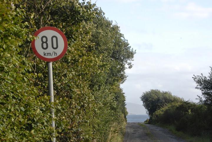 Speed limit sign, Ireland