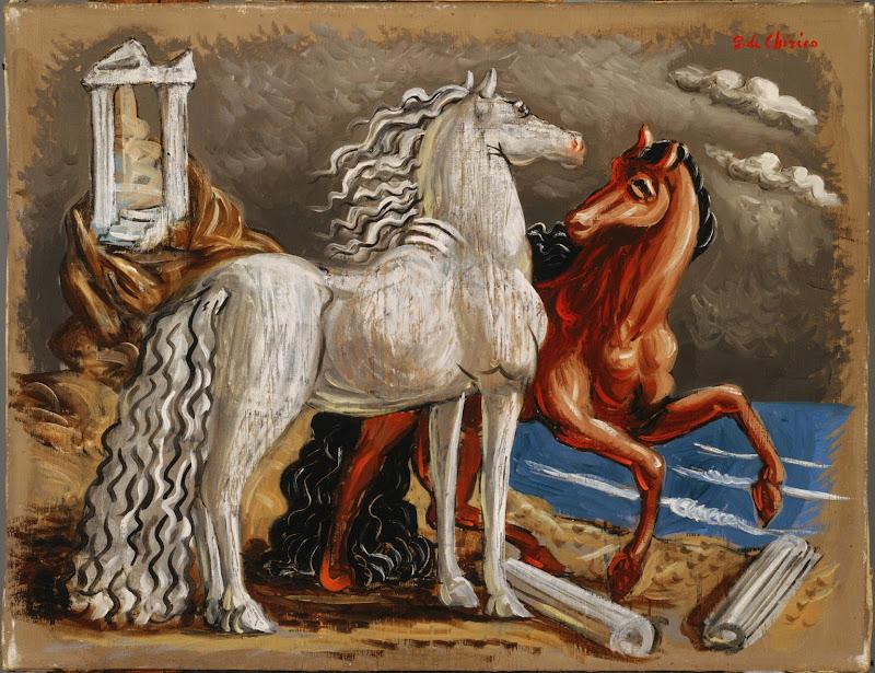 Giorgio de Chirico - Horses, c.1928.