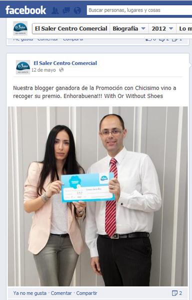Ganadora promocion El Saler y Chicisimo