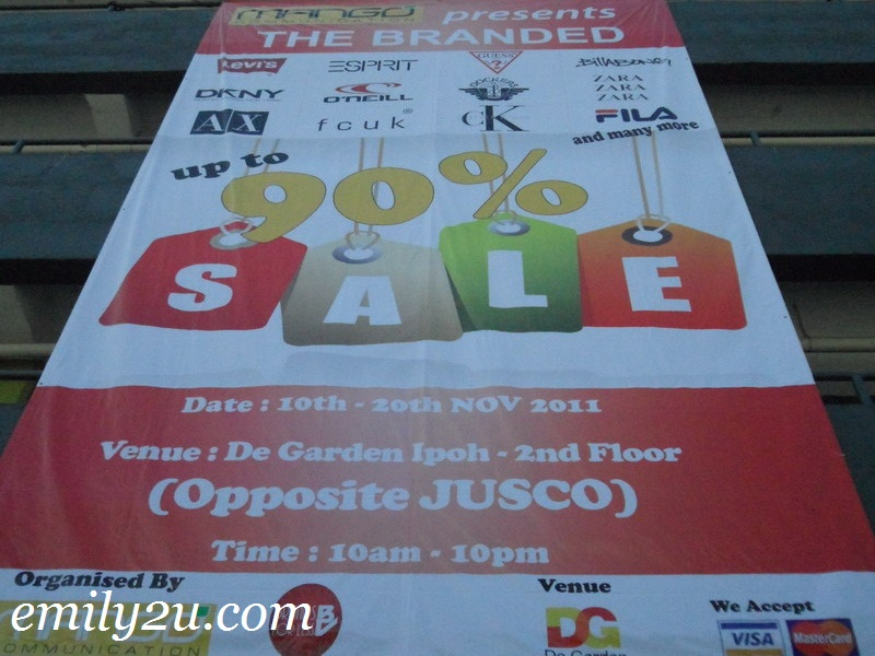 branded warehouse sale