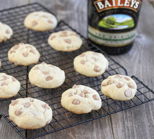 Baileys Irish Cream Cookies on a baking rack
