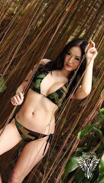 Paulene So Camouflauge Bikini(bikini girl-3photos)3