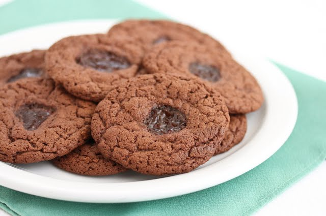 Flourless Chocolate Peanut Butter and Jelly Cookies - Kirbie's ...