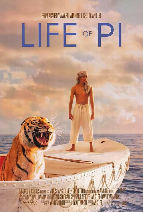 Poster Of Life of Pi (2012) Full Movie Hindi Dubbed Free Download Watch Online At Alldownloads4u.Com