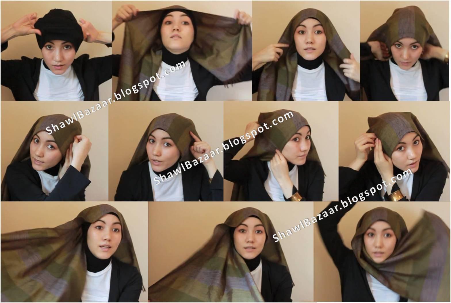 25 Gambar Lengkap Tutorial Hijab Hana Tajima Untuk Kalian