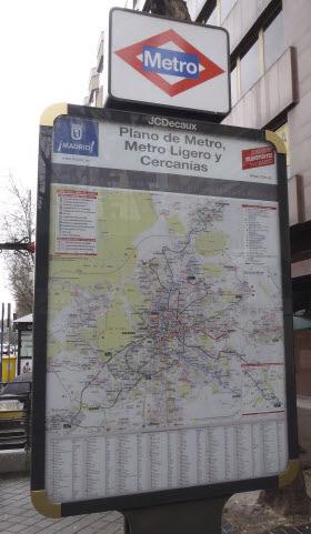 Nuevo plano de Metro en las calles de Madrid