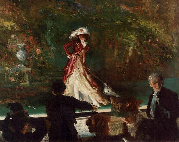 Everett Shinn - Footlight flirtation