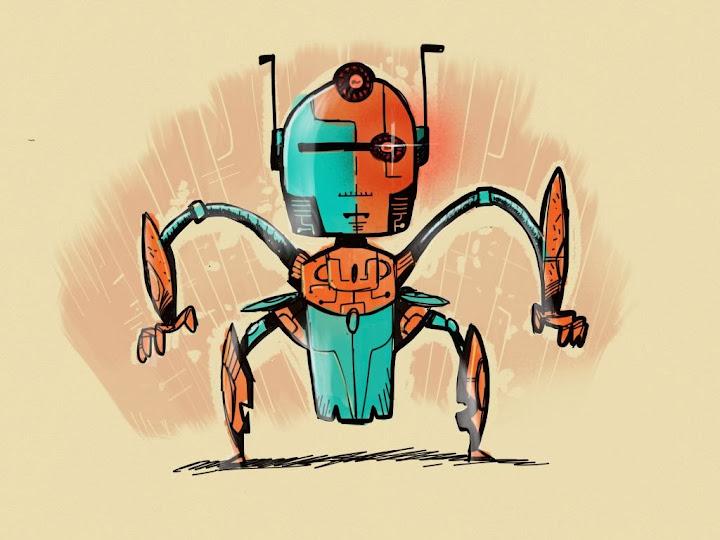 robot made with Sketches