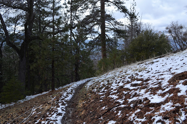 very little snow left along the trail