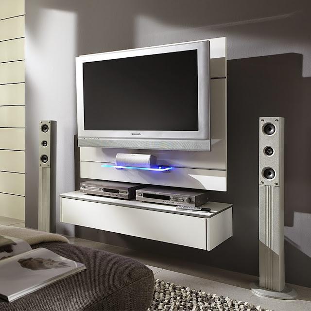 Dix meubles tv suspendus au mur for Meuble tv accroche au mur