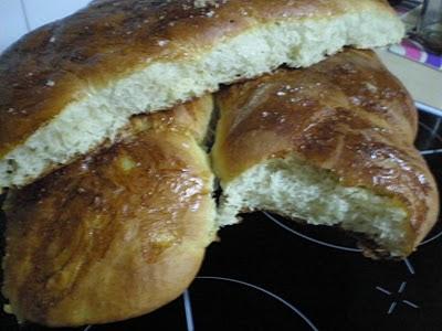 Trenza de pan brioche