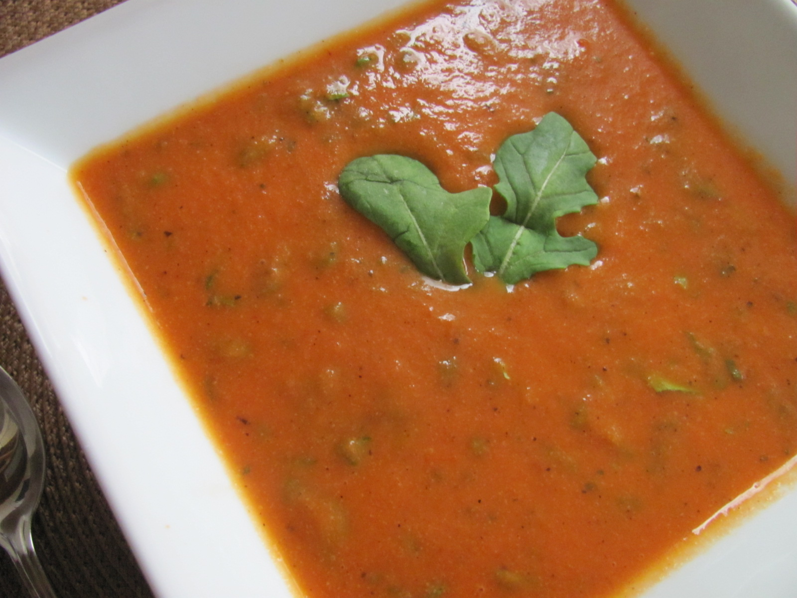 ... Time Saving Recipes: Smoky Tomato Bisque with Arugula and Cashew Cream