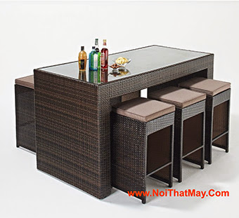Outdoor Wicker Bar Set Minh Thy 814