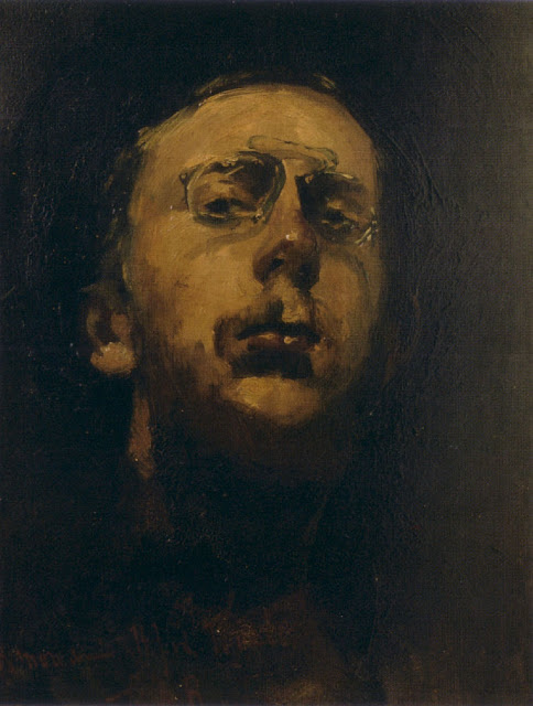 George Hendrik Breitner - Selfportait with pince-nez