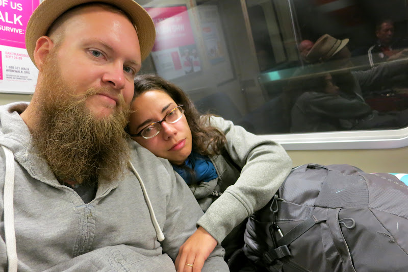 On the BART - still sick