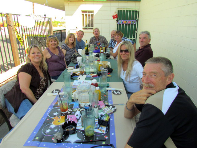 dickie's party on the patio