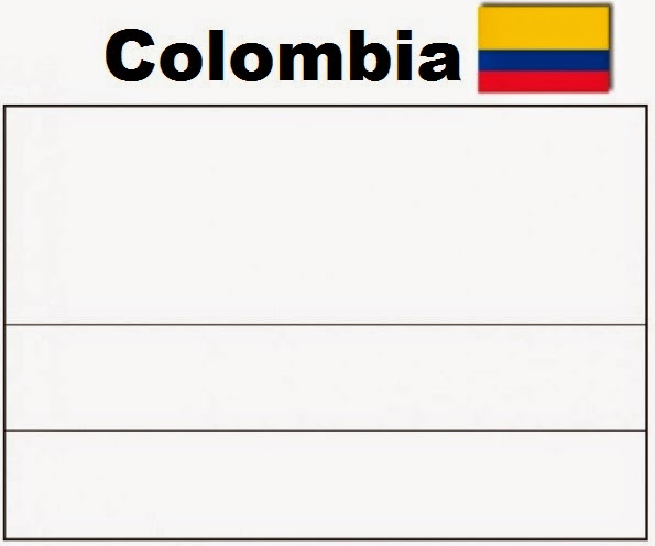 A Colombian Flag Free Coloring Pages Columbia Flag Coloring Page