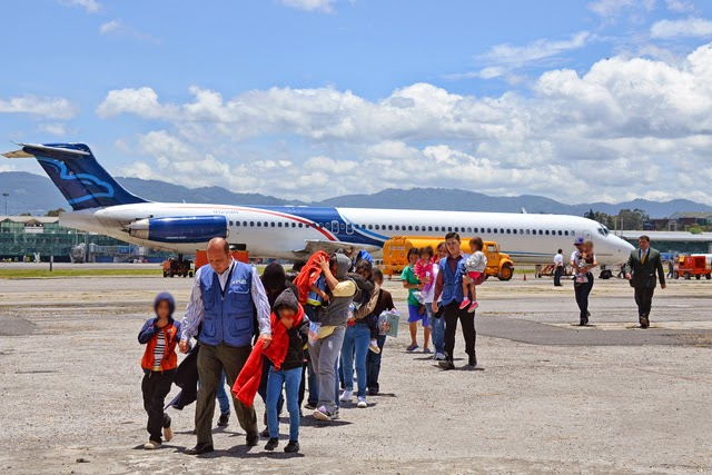 Guatemala receives second group of children deported by U.S.