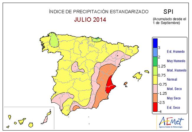 Estado de las reservas hidráulicas y balance pluviométrico año 2013-2014