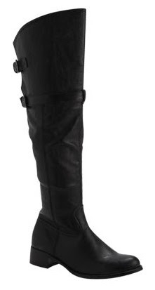 Matalan Black Over the Knee Riding Boots