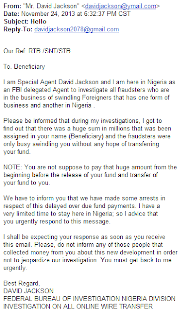 Nigeria FBI Beneficiary
