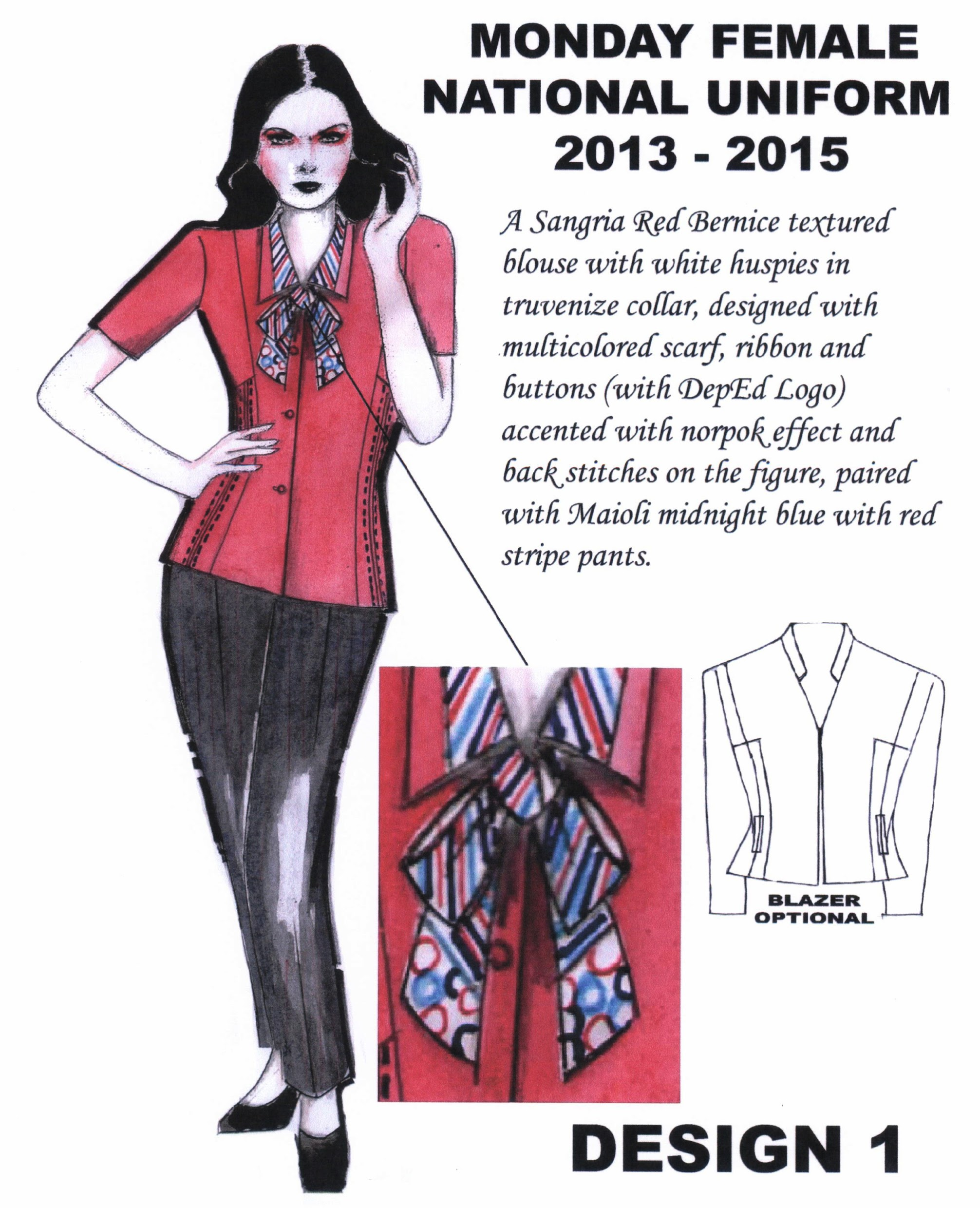 DepED Teachers new Uniform Design SY 2013-2015 Photos 01-2013-02-22