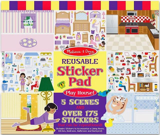 Sách sticker Ngôi nhà ấm áp ME4197 với các khung cảnh trống cho bé tha hồ sáng tạo
