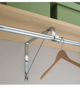 Clothes Rack Wall Mount Closet Rod And Shelf Support Bracket