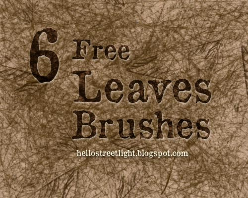 Free Leaf Photoshop Brushes