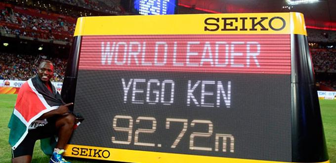 julius yego, deportista, kenia, atleta, lanzamiento jabalina, campeon del mundo, oro, beijing 2015