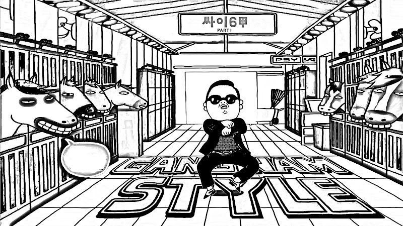 Gangnam style coloring pages